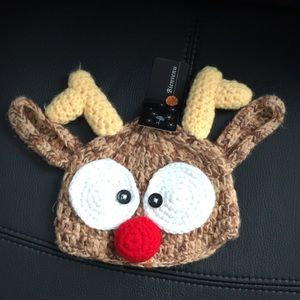 Knit Reindeer Hat for Baby